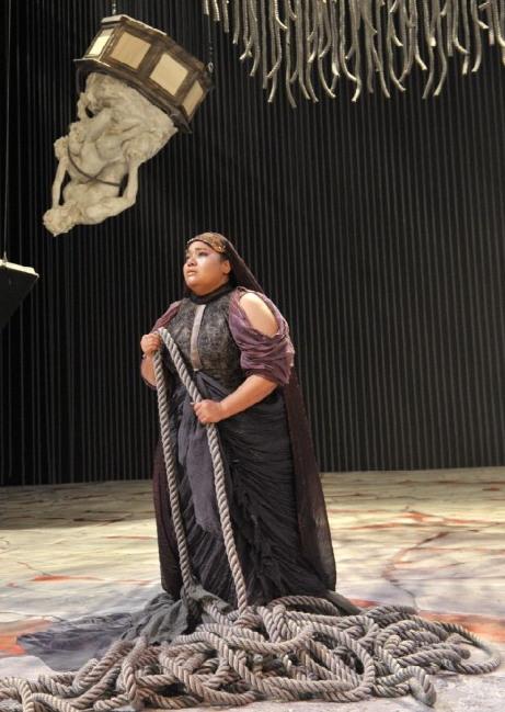 Lucrecia García (Aida) al Teatro San Carlo de Nàpols (2013). Fotografia Teatro San Carlo