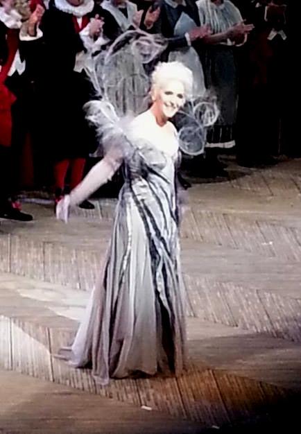 Maria José Moreno ( La fada) a Cendrillon 28 de febrer de 2013, Gran Teatre del Liceu. Foto gentilesa de la Gemma (Facebook)