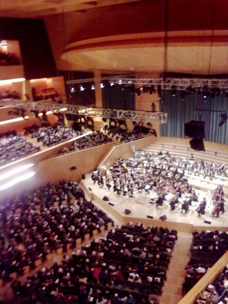 aspecte immillorable de l'Auditori de Barcelona el dissabte 11 de gener de 2014
