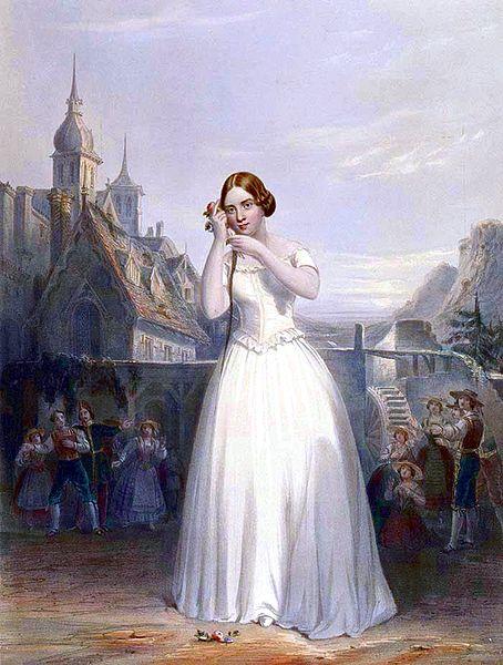 Jenny Lind com a Amina a La sonnambula. Font: Wiquipèdia