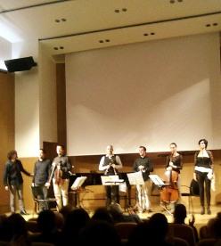 Pierrot Lunaire a l'Ateneu Barcelonès, 4 de gener de 2014. Orquestra de Cambra del Penedès i Marta Valero. Foto IFL