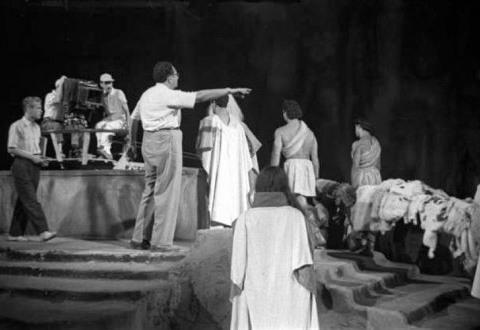 Filmació de Parsifal de Daniel Mangrané. Fons fotogràfic de la Filmoteca de Catalunya