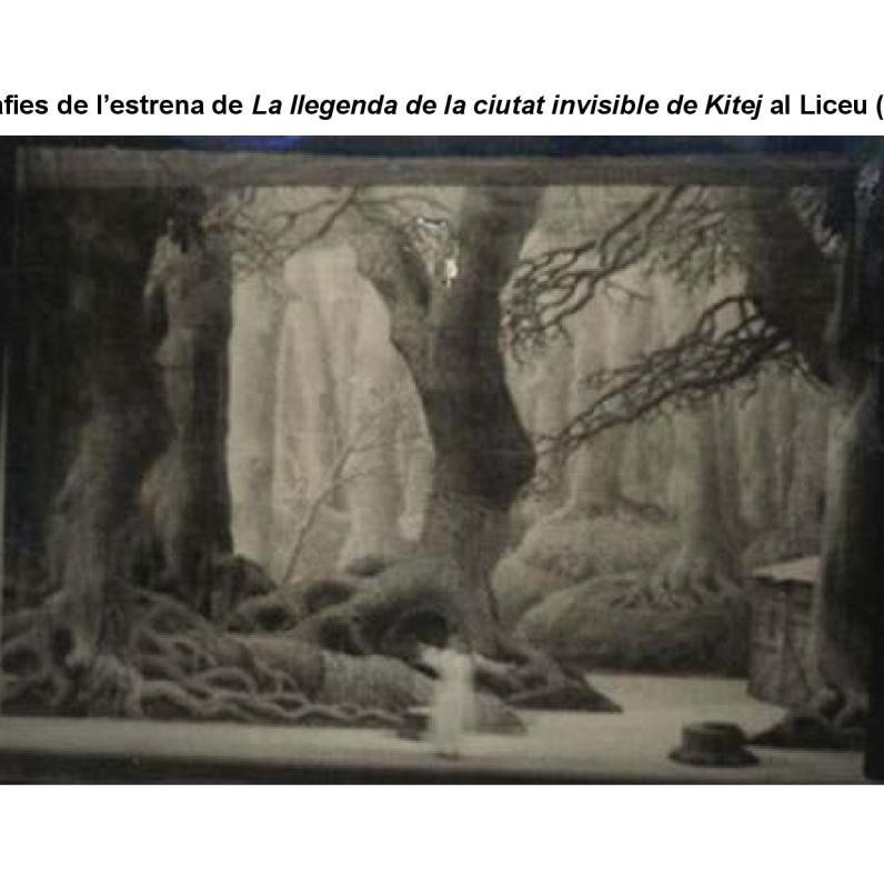 Produció original de La llegenda de la ciutat invisible de Kítej al Gran Teatre del Liceu (1926)