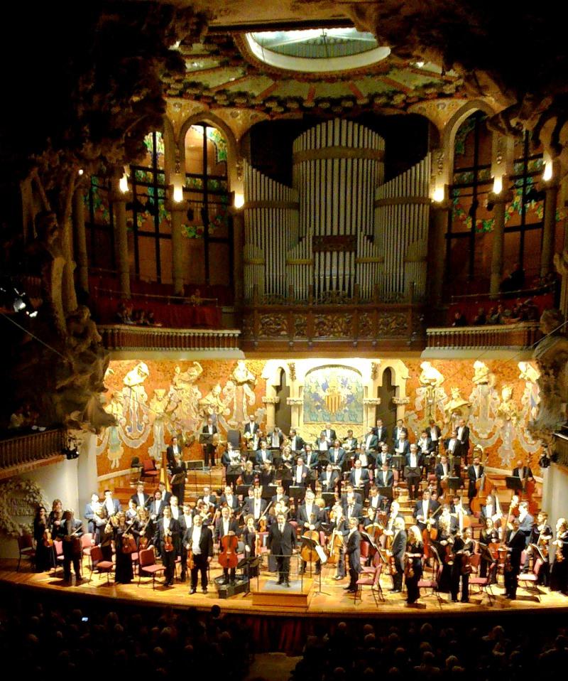 Orquestra del Gran Teatre del Liceu, Cristoforo Pestalozzi, Josep Pons i Paul Cortese, Palau de la Música Catalana 26 de març de 2014. Foto IFL