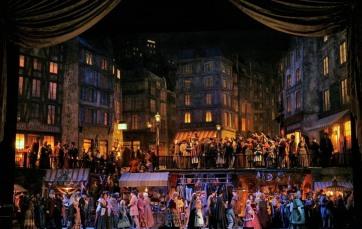 La Bohème, acte 2on Producció Franco Zeffirelli MET