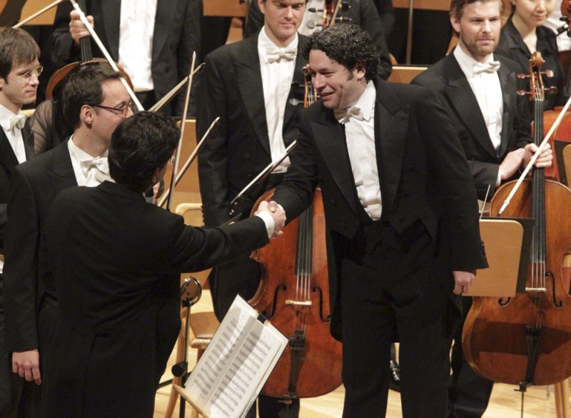 Gustavo Dudamel i a Bayerischen Rundfunks. Fotografia: EFE/Javier Cebollada