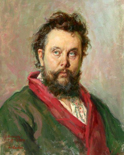 Lajos Markos (1917 – 1993) retrat de Modest Mussorgsky