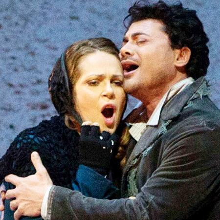 Kristine Opolais i Vittorio Grigolo a La Bohème del Metropolitan Opera House de Nova York. AP Photo/Metropolitan Opera, Marty Sohl