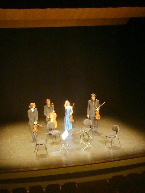 Daniel Cubero, Bernat Bofarull, Maria Sanz i Amat Santacana, Qvixote Quartet al Teatre Principal de Sabadell, 11 d'abril de 2014