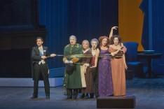 Juan Diego Flórez, Pietro Spagnli, Joyce DiDonato, Alessandro Corbelli, Rachelle Durkin i Patricia Risley a La Cenerentola al MET 2014