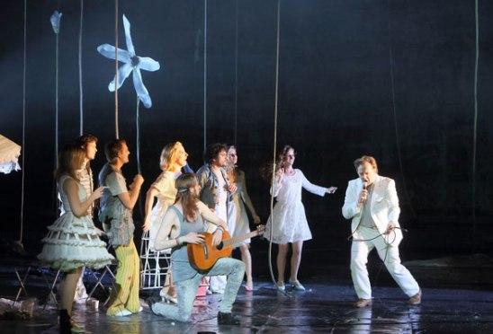 L'Orfeo a la Bayerischen Staatsoper Mathias Vidal (Pastore) Christian Gerhaher (Orfeo) Producció David Bosch Fotografia © Bavarian State Opera