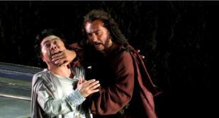 Seng-Hyoun Ko (Iago) i Roberto Alagna (Otello) a Orange 2014