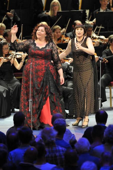 Goerke i Barkmin a Elektra, PROMS 31/08/2014 Foto: Copyright: BBC/Chris Christodoulou