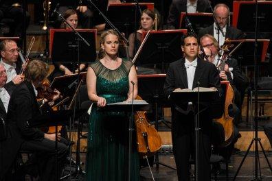 LA FAVORITE 2014 • ELĪNA GARANČA (LÉONOR DE GUZMAN), JUAN DIEGO FLÓREZ (FERNAND), PHILHARMONIA CHOR WIEN, MÜNCHNER RUNDFUNKORCHESTER © Salzburger Festspiele / Marco Borrelli / Lelli