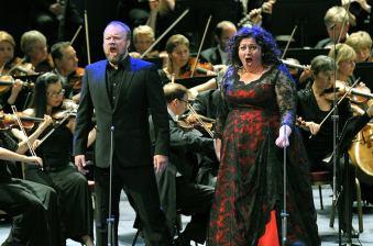 John Reuter i Christine Goerke a Elektra PROMS 31/08/2014 Foto: Clytemnestra