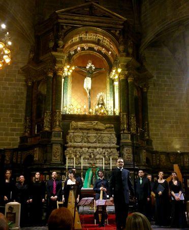 David Malet i el Cor de Cambra Francesc Valls a la Capella del Sant Crist de Lepant de la Catedral de Barcelona, 15 de novembre de 2014 Foto IFL