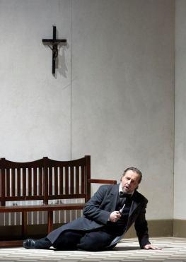Christian Gerhaher (Wolfram von Eschenbach), Tannhäuser a Viena. Fotografia © Wiener Staatsoper / Michael Pöhn