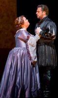 Jamie Barton (Giovanna Seymour) i John Relyea (Enrico VIII) a Anna Bolena a la Lyric Opera de Chicago 2014