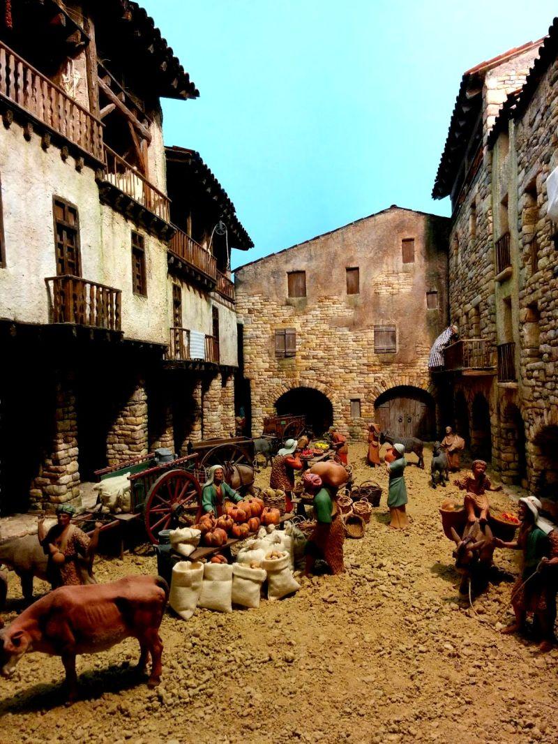 Pessebre de Betlem. Plaça porxada de Bagà. Foto Julianen