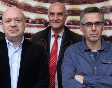 Albert Guinovart, Òscar Boada i Jordi Galceran. Fotografia de Festadirecta.cat