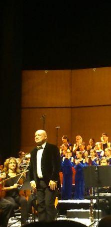 Albert Guinovart al Liceu en ocasió de la cantanta de Nadal Els Pastorets, el 20 de desembre de 2014. Foto IFL
