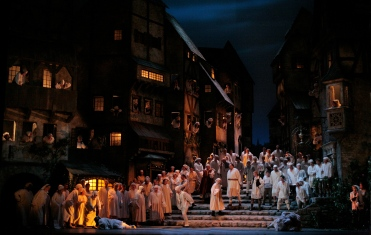 """""""DIE MEISTERSINGER VON N†RNBERG.Acte 2on. """" Foto: Beatriz Schiller/Metropolitan Opera"""