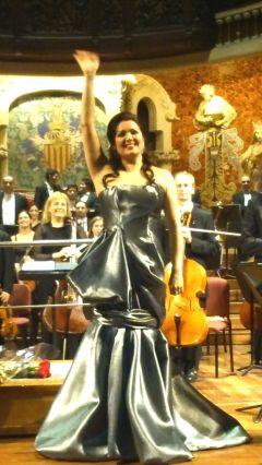 Anna netrebko al Palau de la Música Catalana, 17 de desembre de 2014. Fotografia IFL