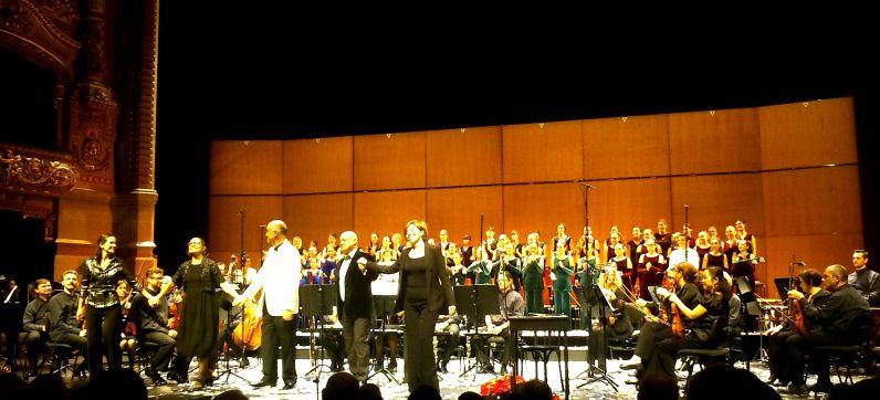 Els Pastorets de Guinovart i Galceran, amb el Cor Vivaldi el 20 de desembre de 2014 al Liceu. Foto IFL