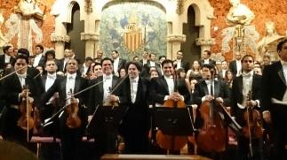 Dudamel i la Orquesta ASinfónuica Simón Bolivar de Venezuela al Palau. Fotobgentilesa de Paco E.