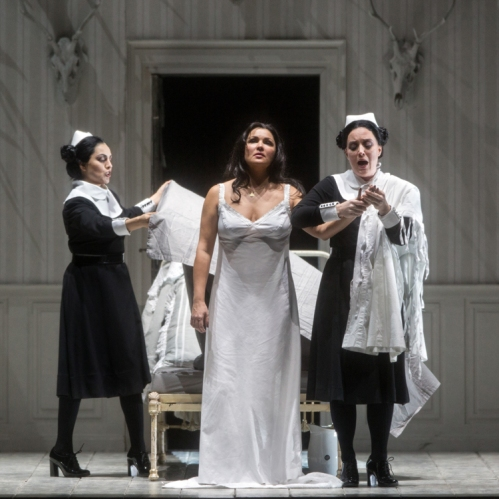 Anna Netrebko (centre) in the title-role of Tchaikovsky's Iolanta (photo Marty Sohl/Metropolitan Opera)