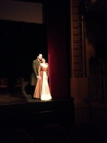 Marc Sala (Conte Alberto) i Sara Blanch (Berenice) a L'occasione fa il ladro al Teatre de Sarrià. Fotografia Amics de l'òpera de Sarrià