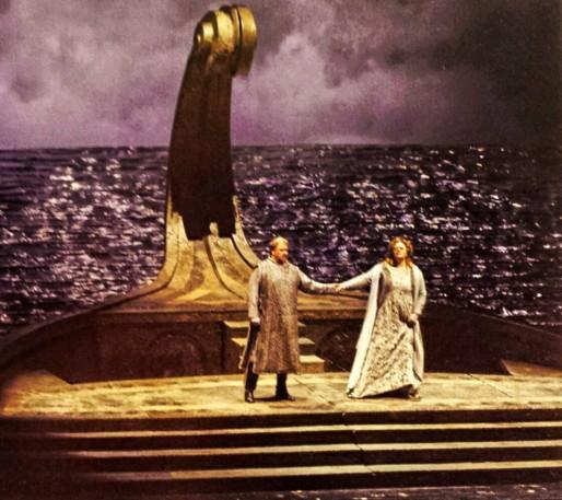 Violeta Urmana (Isolde) i Torsten Kerl (Tristan) a Nàpols Producció Lluís Pascual