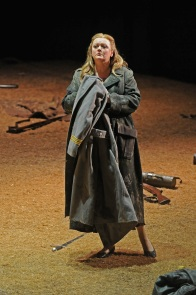 Catherine Foster (Brünnhilde) a Siegfried. Liceu 2015 Foto: ® A Bofill