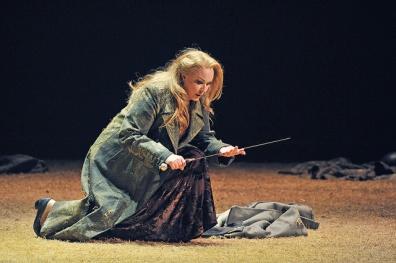 Iréne Theorin (Brünnhilde) a Siegfried. Gran Teatre del Liceu Fotografia ® A Bofill