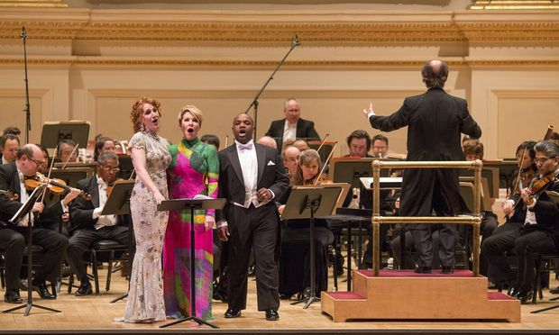 The Philadelphia Orchestra with conductor Maurizio Benini, Laura Claycomb, Joyce DiDonato and Lawrence Brownlee (Richard Termine)