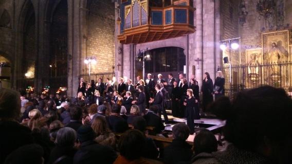 Latvian Radio Choir a l'església de santa Maria del Pi. 07/03/2015 foto IFL