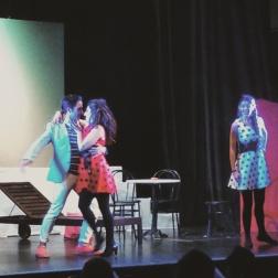 César Arrieta, Silvia Aurea de Stefano i Sara Bañeras a Le Cinesi al Teatre de Sarrià Foto IFL