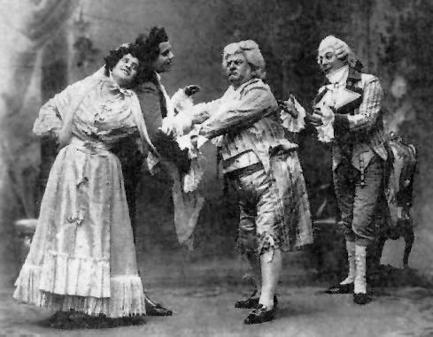 Rosina Storchio, Giuseppe de Luca, Antonio Pini Corsi i Leonid Sobinov a Don Pasquale