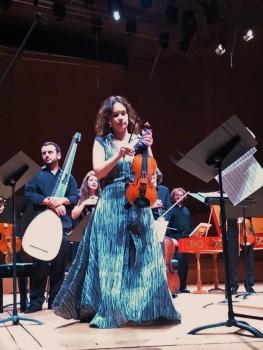 Patricia Kopatchinskaja i Il Giardino Armonico a L'Auditori. Foto IFL
