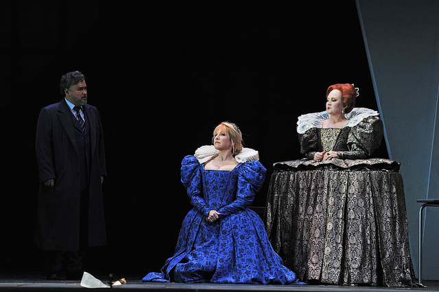 Javier Camarena, Joyce DiDonato i Silvia Tro Santafé a Maria Stuarda. Fotografia ® Antoni Bofill