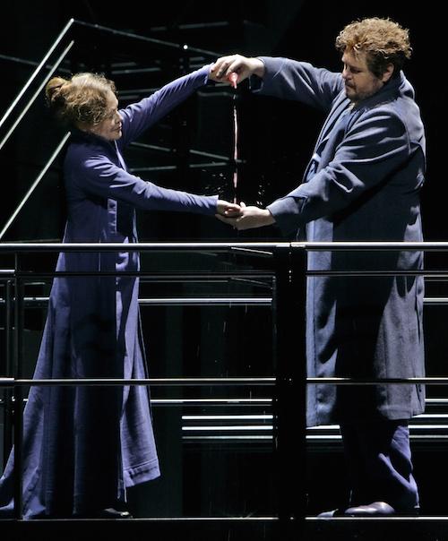Evelyn Herlitzius i Stefan Gould a Tristan und Isolde de Bayreuth 2015- Producció de Katharina Wagner. Fotografia Enrico Nawrath/Bayreuther Festspiel