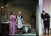LE NOZZE DI FIGARO 2015 • ANETT FRITSCH (LA CONTESSA ALMAVIVA), MARTINA JANKOVÁ (SUSANNA), ADAM PLACHETKA (FIGARO) © Salzburger Festspiele / Ruth Walz