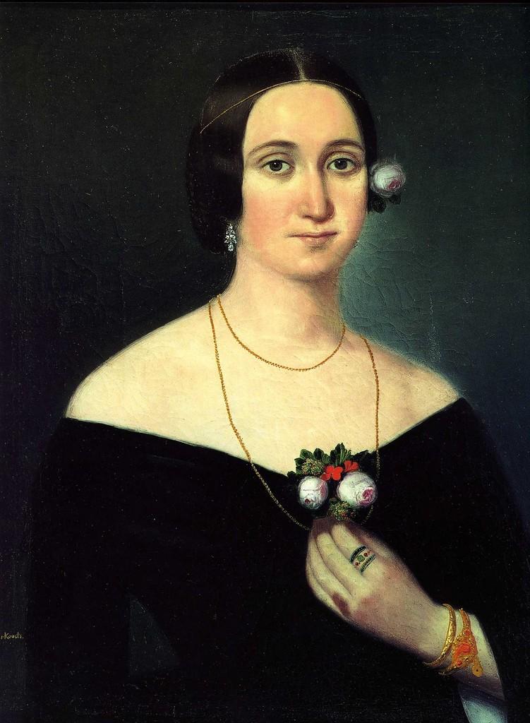 Giuseppina Strepponi, pintura de Karoly Gyurkovich