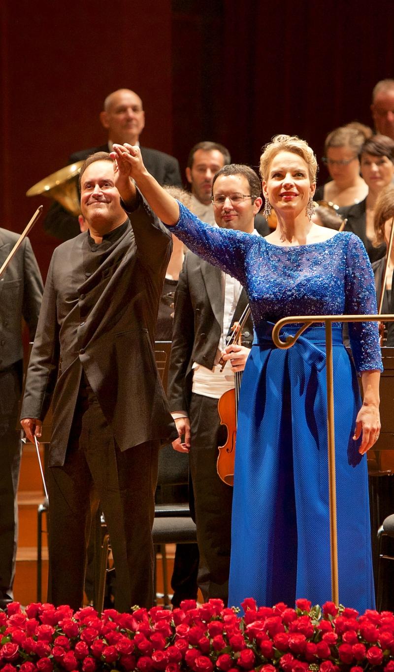 Karel Mark Chichon i Elina Garanča al Victoria Hall de Ginebra el 5 de novembre de 2015 Fotografia © Enrique Pardo