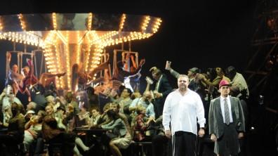 Joseph Calleja (Faust) i Andrea Borghini (Wagner) a Mefistofele a Munich. Fotografia: Charles Tandy