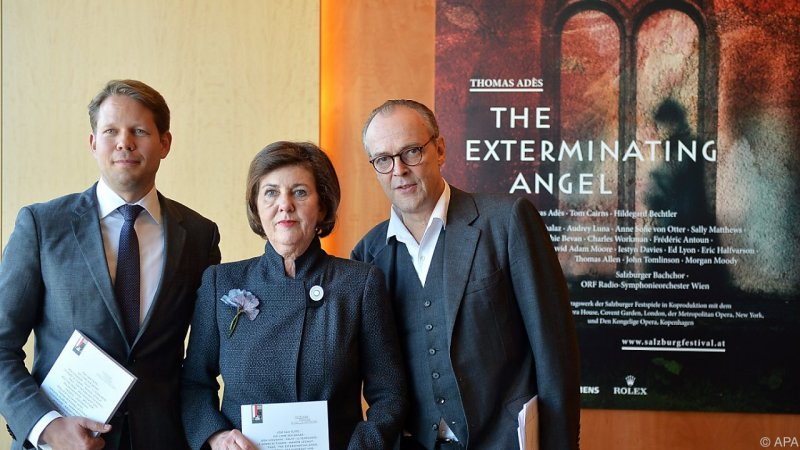 Florian Wiegand, Helga Rabl-Stadler i Sven-Eric-Bechtolf Responsables del Festival de Salzburg 2016