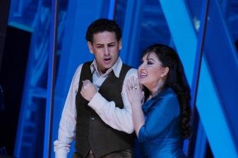 Juan Diego Flórez (Edgardo) i Elena Mosuc (Lucia) Liceu desembre 2015 Fotografia ® A Bofill