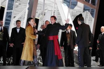 J.D.Flórez, Simón Orfila i Marco Caria a la Lucia di Lammermoor Liceu desembre 2015 Fotografia ® A Bofill