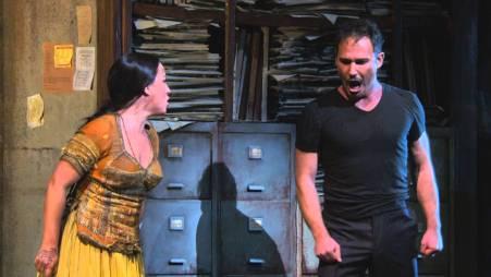 Diana Damrau (Leila) i Mariusz Kwiecien (Zurga) Foto: Ken Howard/MetropolitanOpera