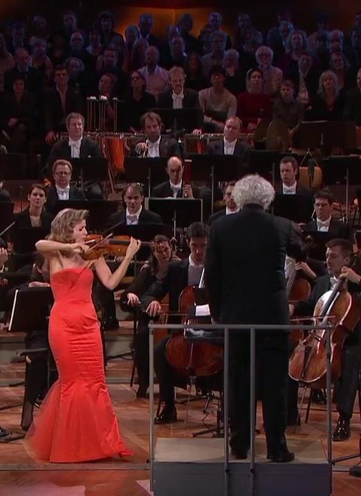 Anne-Sophie Mutter - Simon Rattle i la Berliner Philharmoniker el 31 de desembre de 2015 a la sala Philharmonie de Berlin Silvesterkonzert